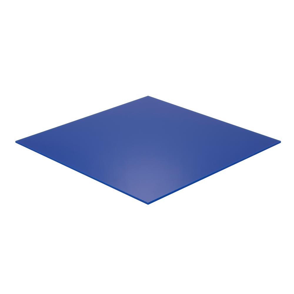 Falken Design 24 In X 72 In X 1 8 In Thick Acrylic Blue