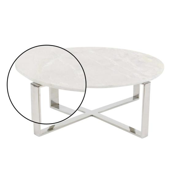 Modern Marble Top Round Coffee Table