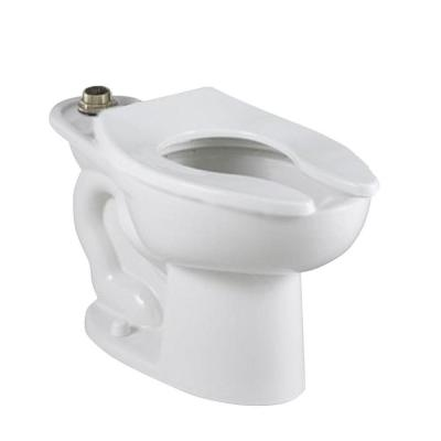 Madera FloWise 16-1/2 in. High EverClean Top Spud 4 Anchor Holes Elongated Flush Valve Toilet Bowl Only in White