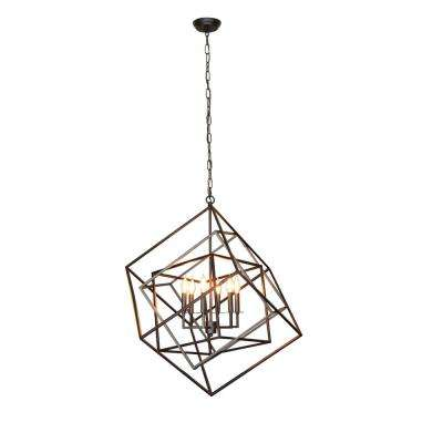 Electrified 6-Light Black Chandelier