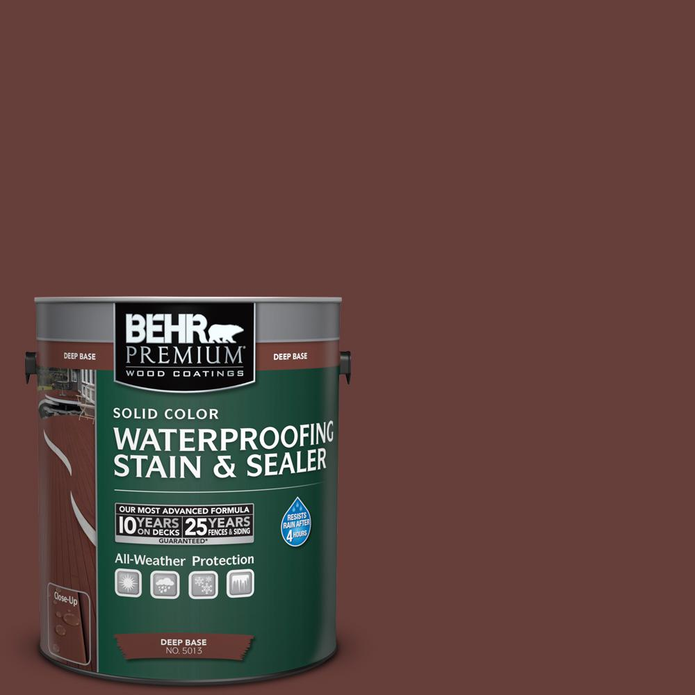 1 gal. #PPU2-1 Chipotle Paste Solid Color Waterproofing Exterior Wood Stain