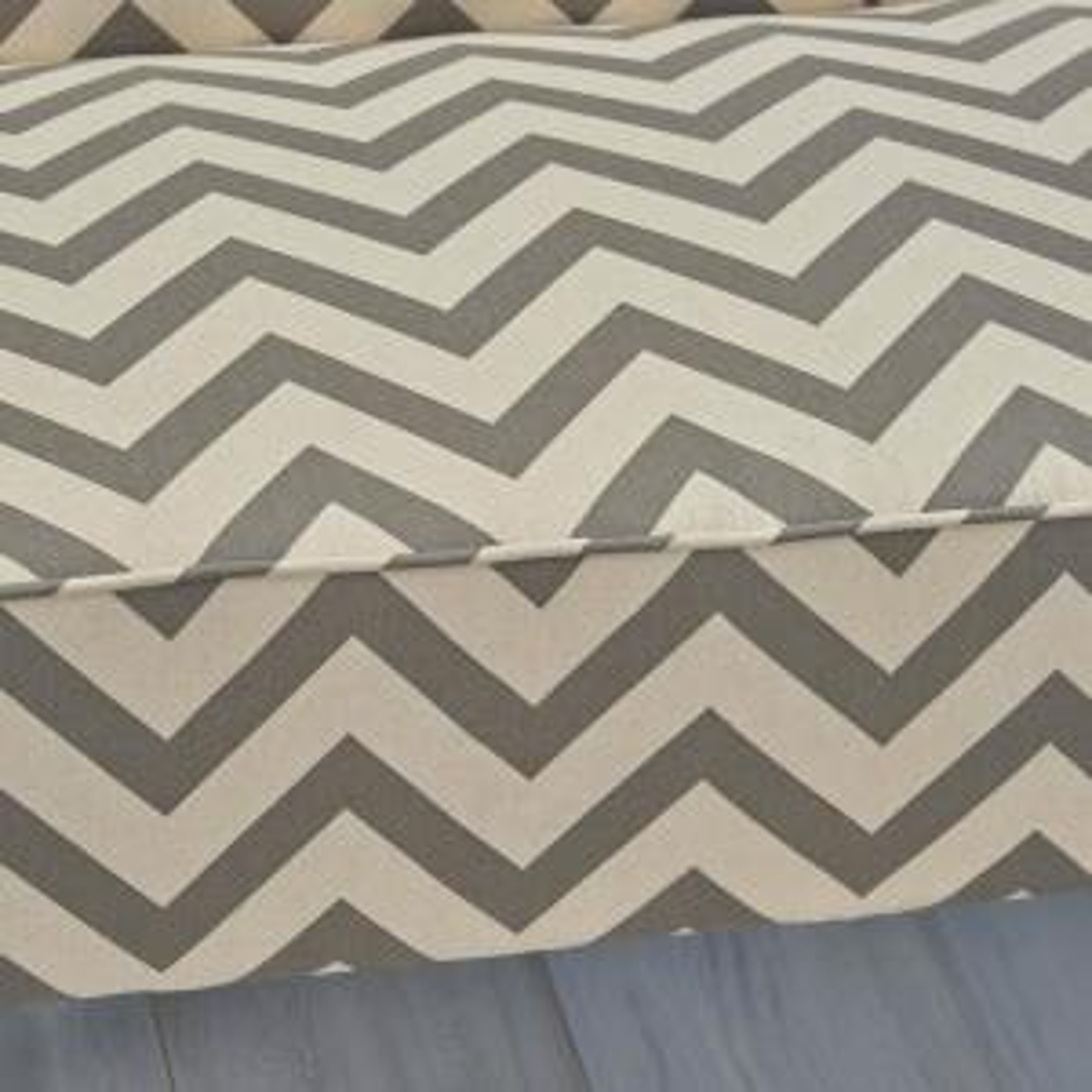 Noble House Dejon Dark Gray Zigzag-Patterned Fabric Loveseat ...