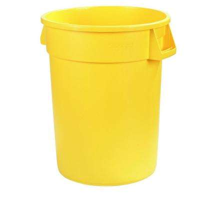 Bronco 44 Gal. Yellow Round Trash Can (3-Pack)