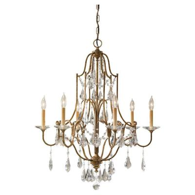 Valentina 6-Light Oxidized Bronze 1-Tier Chandelier