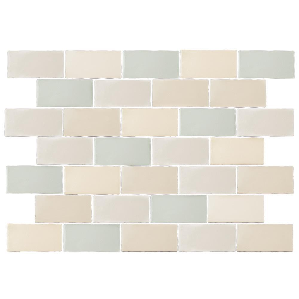 Antic Craquelle Mix 3 In X 6 Ceramic Wall Tile 4 Sq