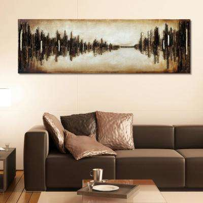 """72 in. x 22 in. """"Passages"""" Mixed Media Wooden Hand Painted Dimensional Wall Art"""