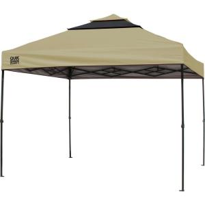 Quik Shade SX100 10 ft. x 10 ft. Taupe/Graphite Instant Canopy by Quik Shade