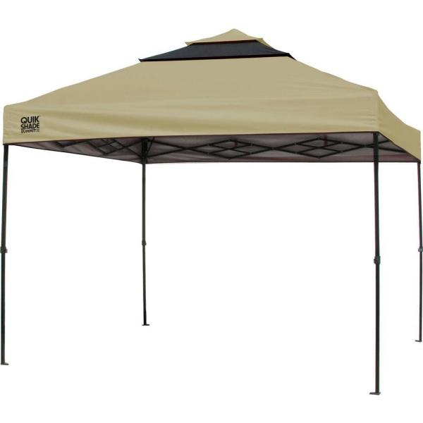 SX100 10 ft. x 10 ft. Taupe/Graphite Instant Canopy