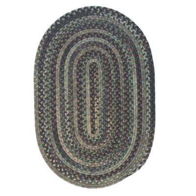 Cage Cabana 5 ft. x 8 ft. Braided Oval Area Rug