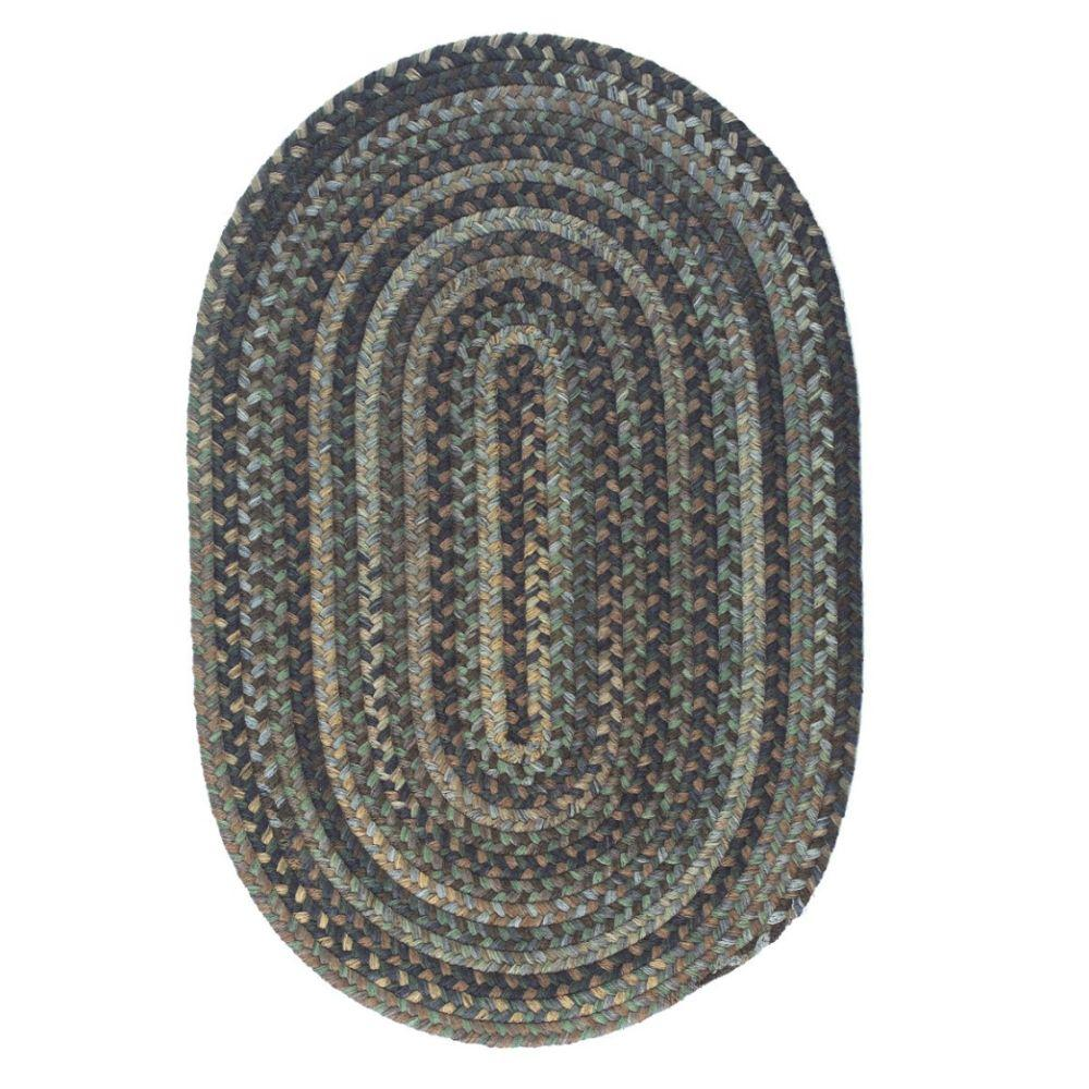 Cage Cabana 7 ft. x 9 ft. Oval Braided Area Rug