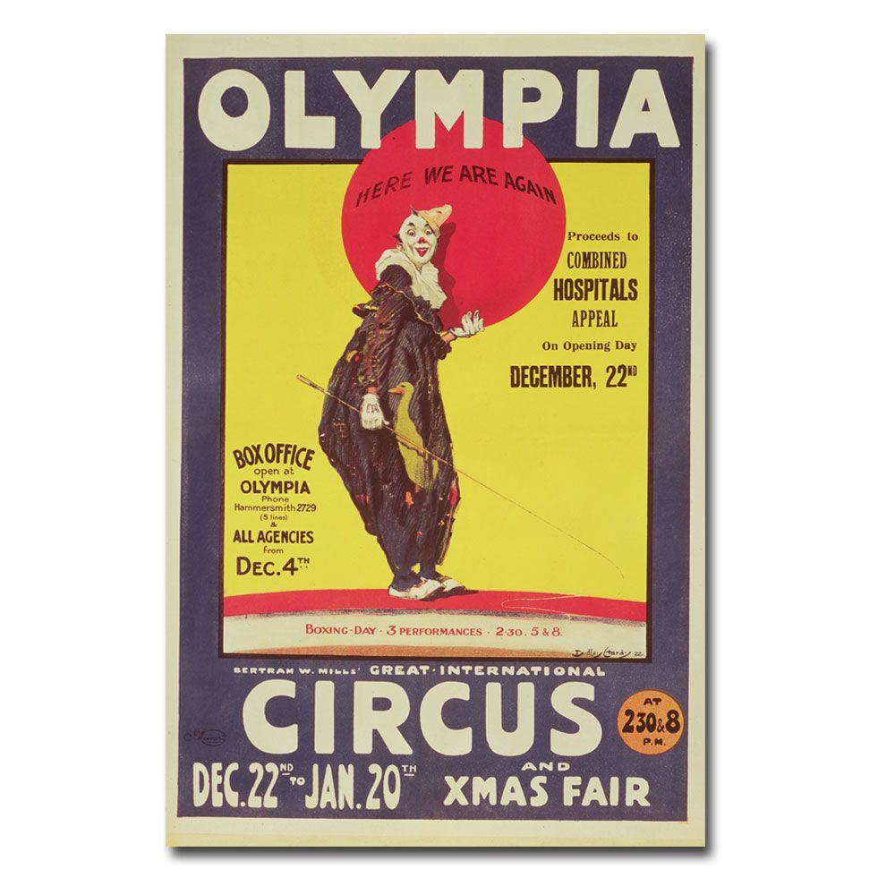 47 in. x 30 in. Bertram Mills Circus 1922 Canvas Art