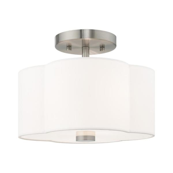 Chelsea 2-Light Brushed Nickel Semi-Flushmount Light