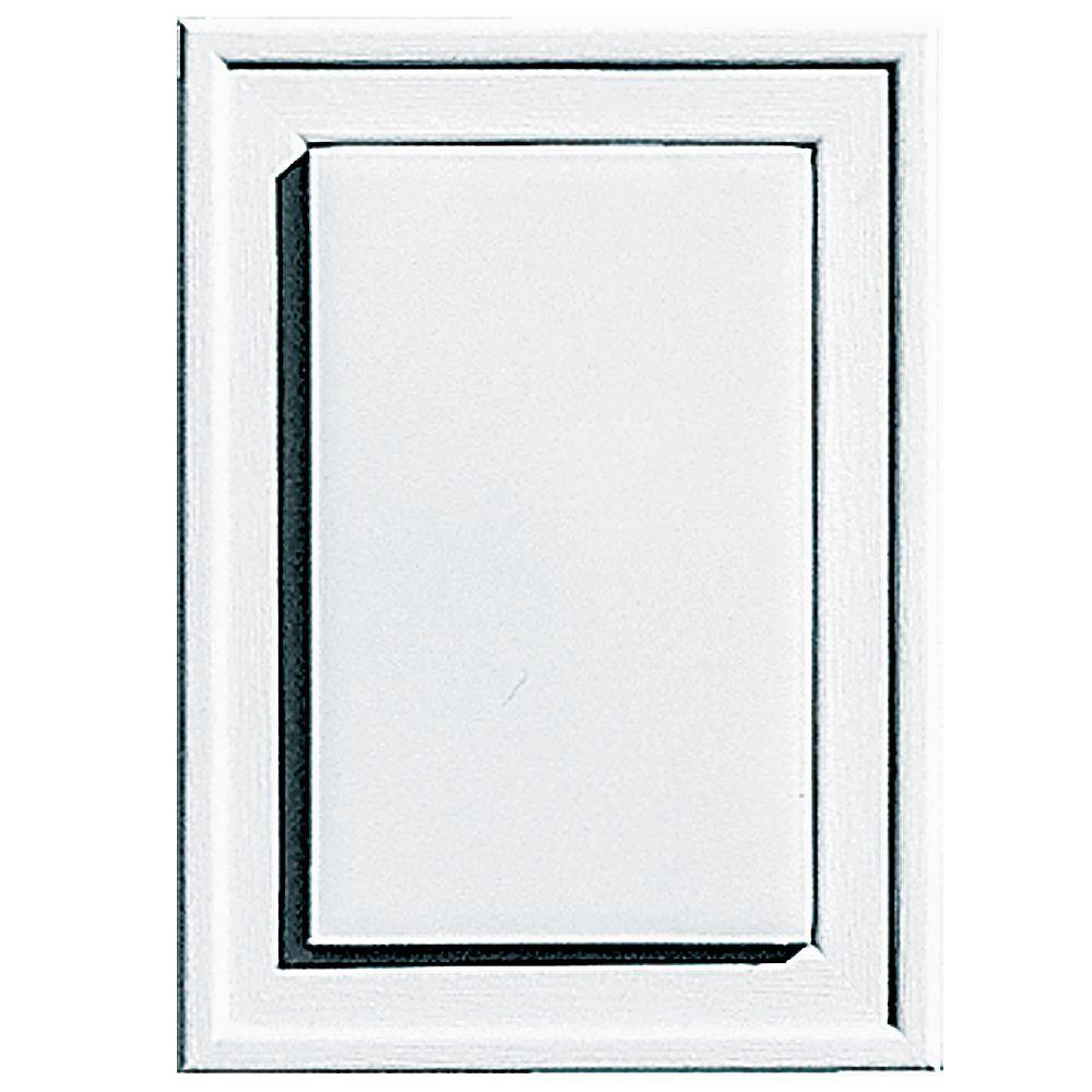 Builders Edge 4.5 in. x 6.3125 in. #001 White Raised Mini Mounting Block