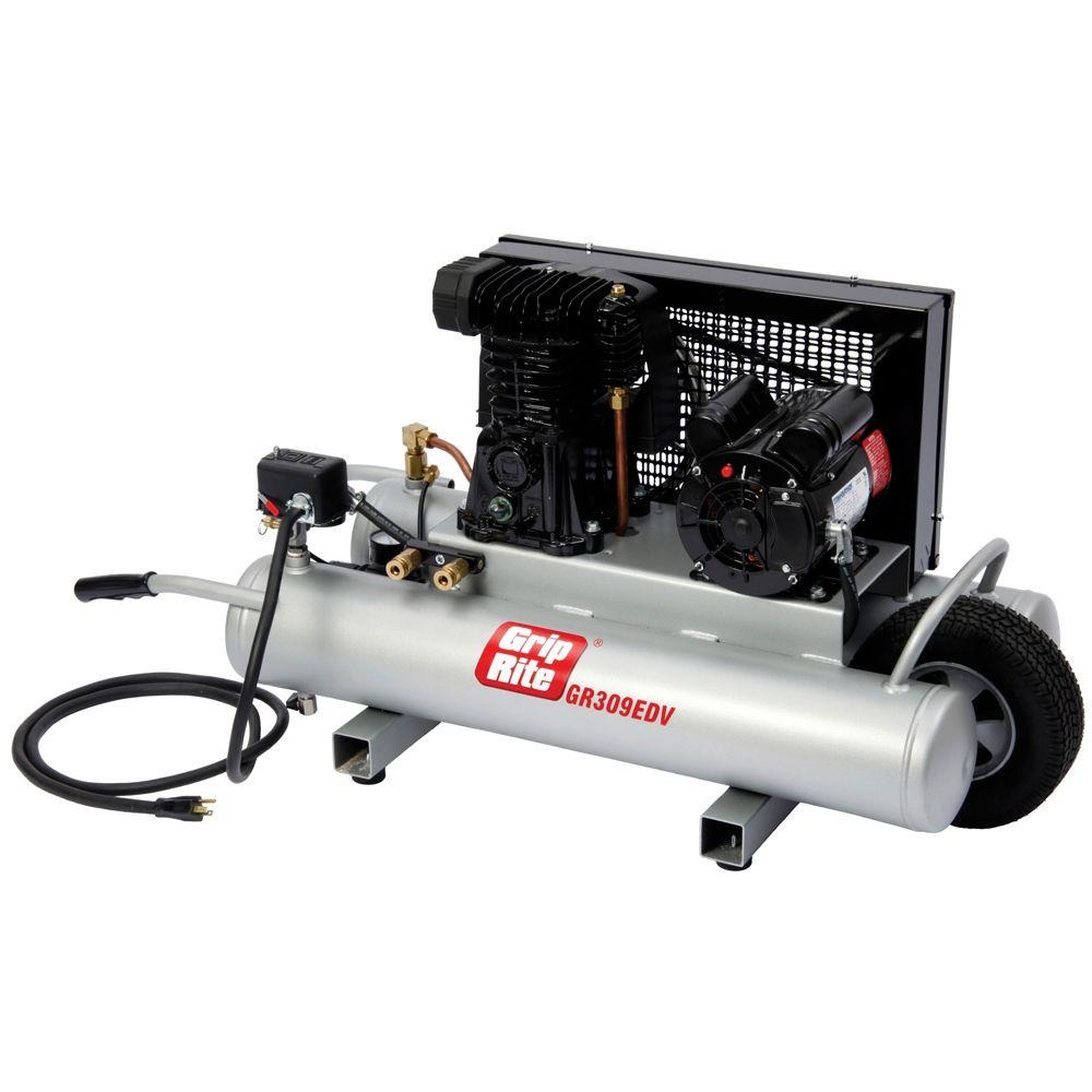 Grip-Rite 9-Gal. 3 HP Portable Powered Wheelbarrow Electric Compressor-DISCONTINUED