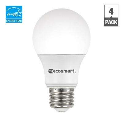 40W Equivalent Daylight A19 Energy Star and Dimmable LED Light Bulb (4-Pack)