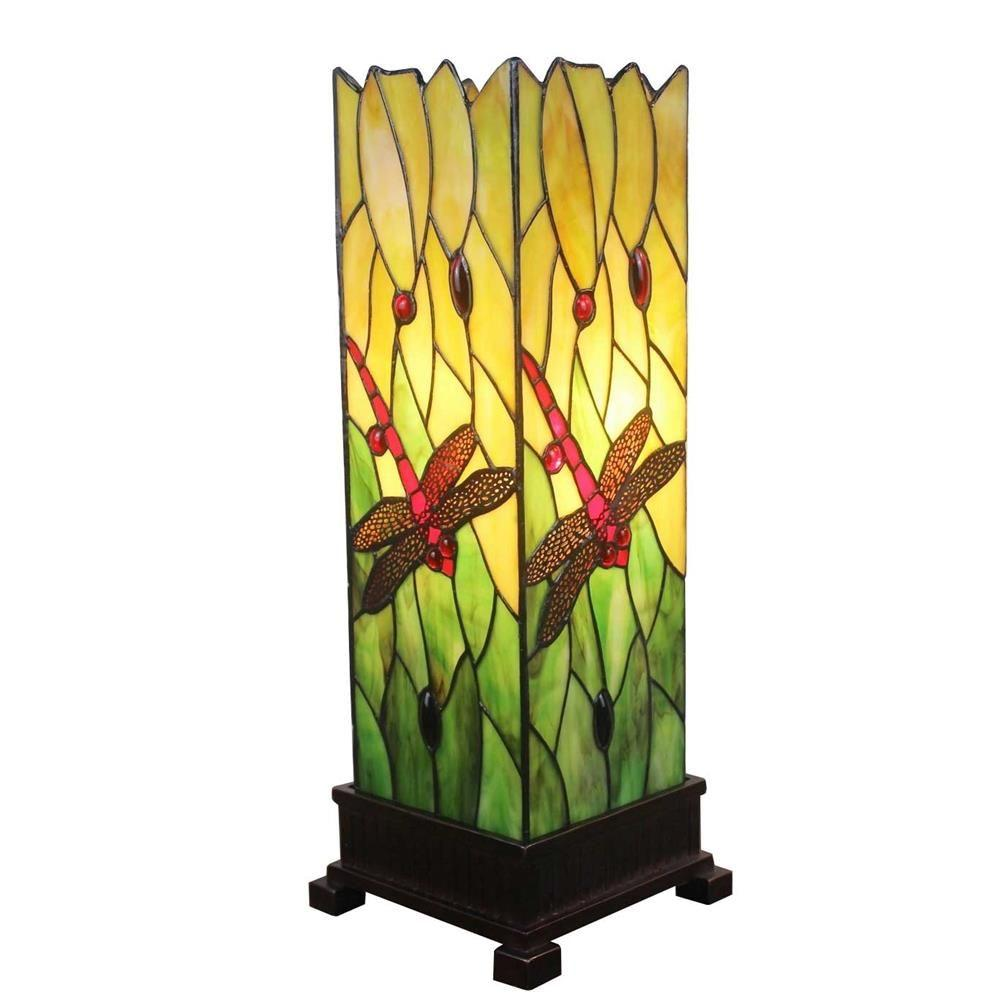 18 in. Tiffany Style Dragonfly Table Lamp