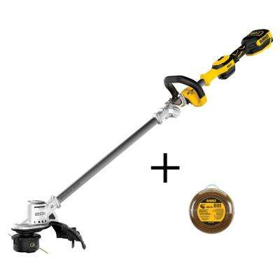20-Volt MAX Lithium-Ion Brushless Cordless String Trimmer Kit with Bonus 0.080 in. x 225 ft. Replacement Line
