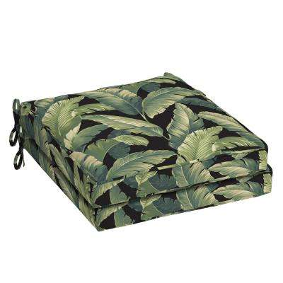 21 in. x 21 in. Onyx Cebu Square Outdoor Seat Cushion (2-Pack)