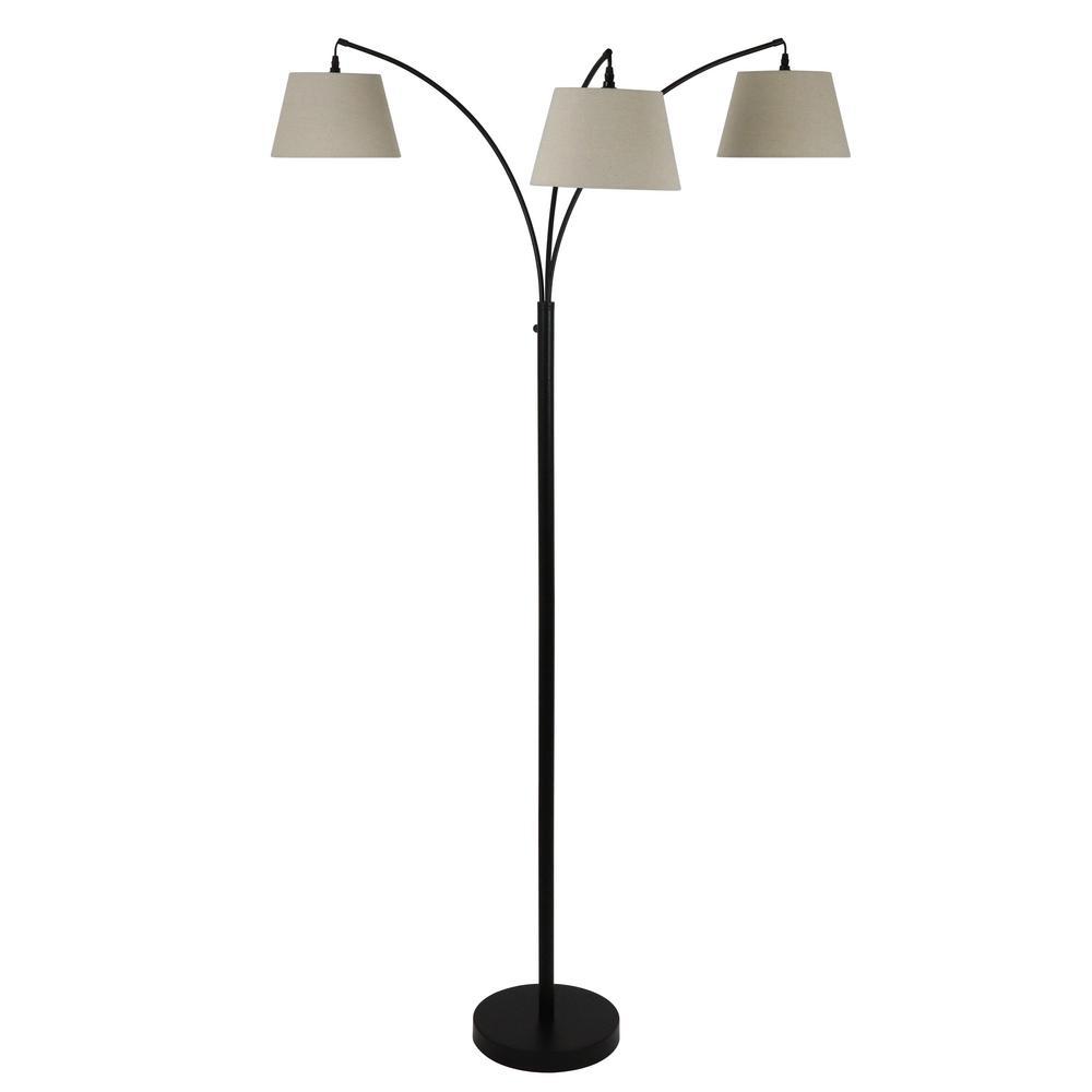 Ashbury 75 in. Bronze Floor Lamp with Shade