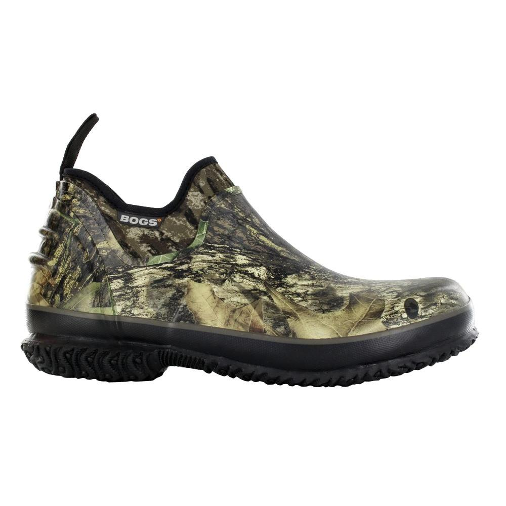 BOGS Field Trekker Camo Men Size 14 Mossy Oak Waterproof Rubber Slip-On Hunting Shoe