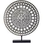 Crystal Art Gallery Silver Medallion Sculpture on Stand
