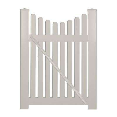 Richmond 4 ft. W x 3 ft. H Tan Vinyl Picket Fence Gate