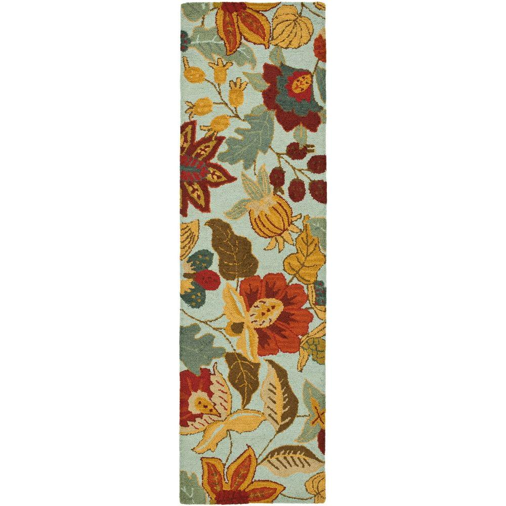 Safavieh Blossom Blue/Multi 2 ft. 3 in. x 8 ft. Runner