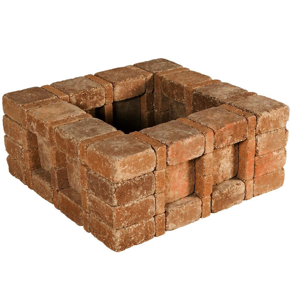 RumbleStone 33 in. x 14 in. x 33 in. Square Concrete Planter Kit in Sierra Blend