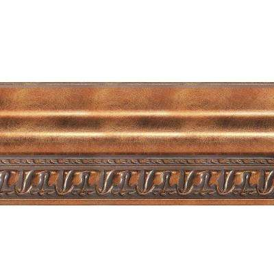 Grand Baroque 1 in. x 6 in. x 96 in. Wood Ceiling Crown Molding in Antique Bronze