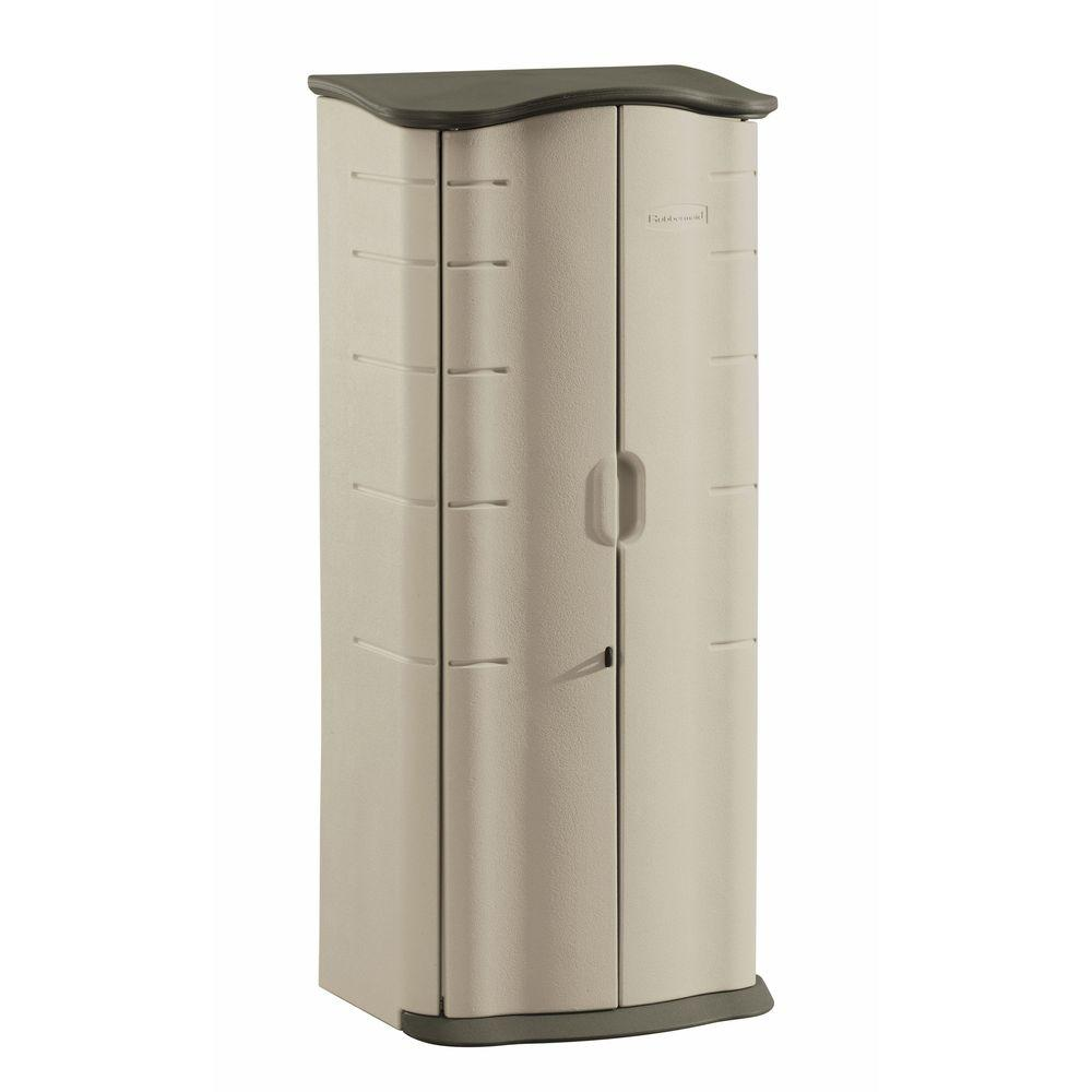Rubbermaid 2 ft. 1 in. x 2 ft. 7 in. Vertical Resin Stora...