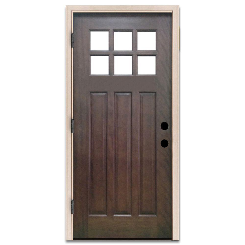 white craftsman front door. craftsman 6 lite stained mahogany wood white front door s