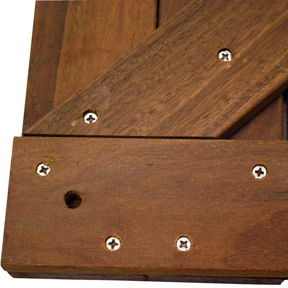 Deckwise Wisetile 8 Ft X 8 Ft 64 Sq Ft Solid Hardwood Deck Tile Starter Kit In Exotic Ipe Ipe24x24s Starter Kit The Home Depot