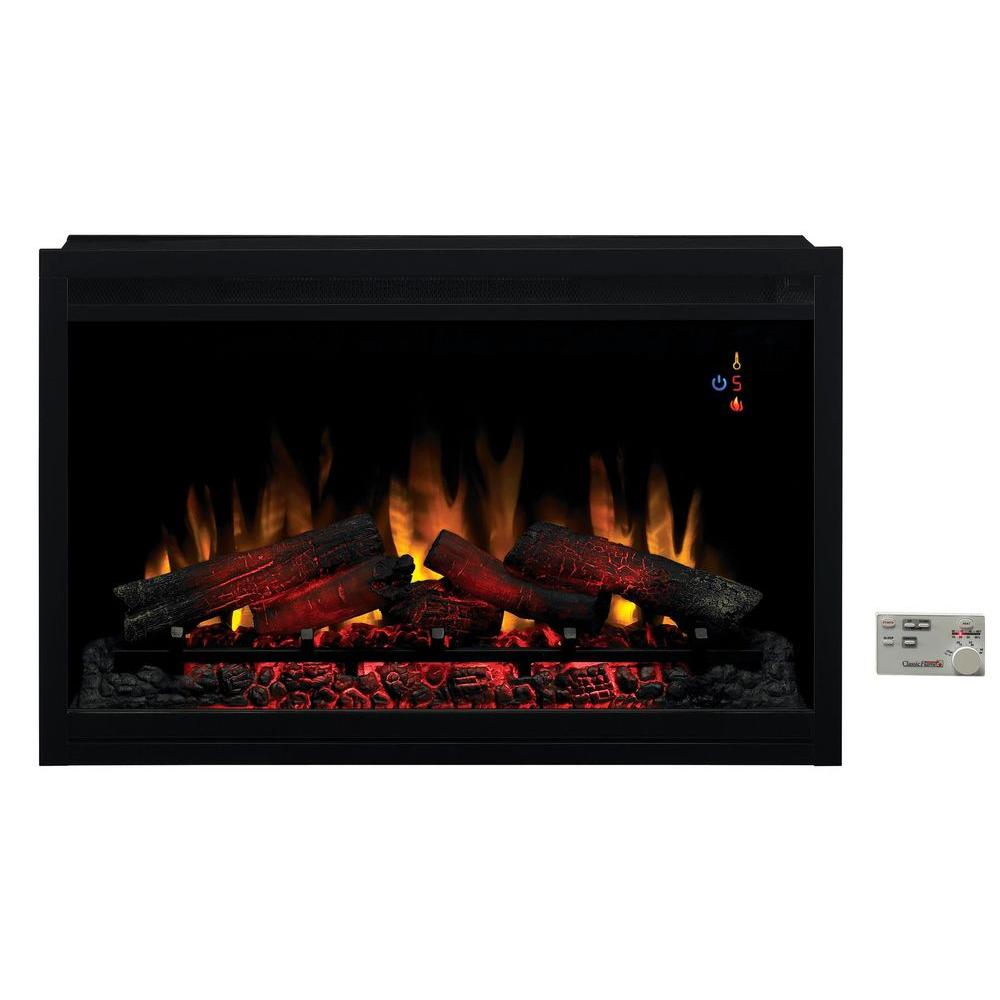 Fireplace inserts fireplaces the home depot traditional built in electric fireplace insert solutioingenieria Image collections