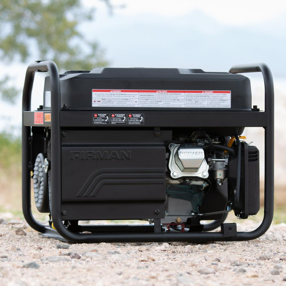 Firman P03609 4550//3650 Watt Recoil Start Gas Portable Generator cETL Certified with Camo Print Black