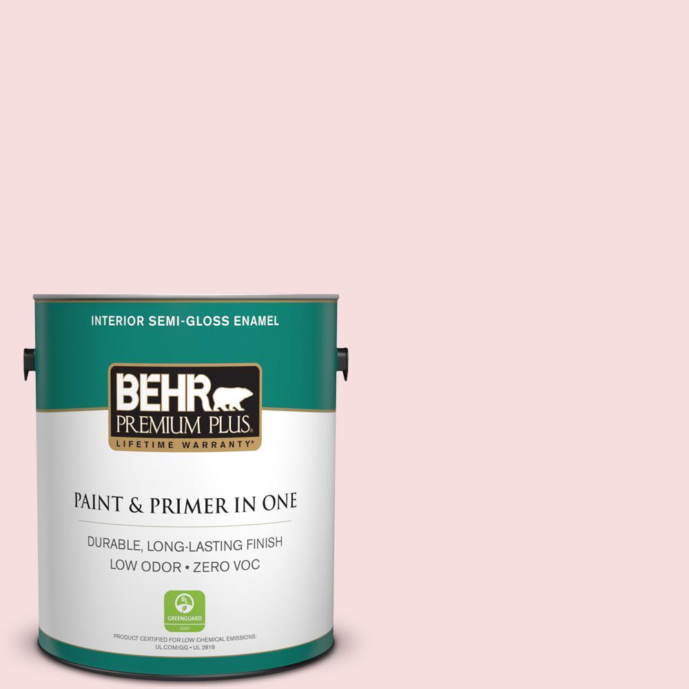BEHR Premium Plus 1-gal. #140C-1 Southern Beauty Zero VOC Semi-Gloss Enamel Interior Paint