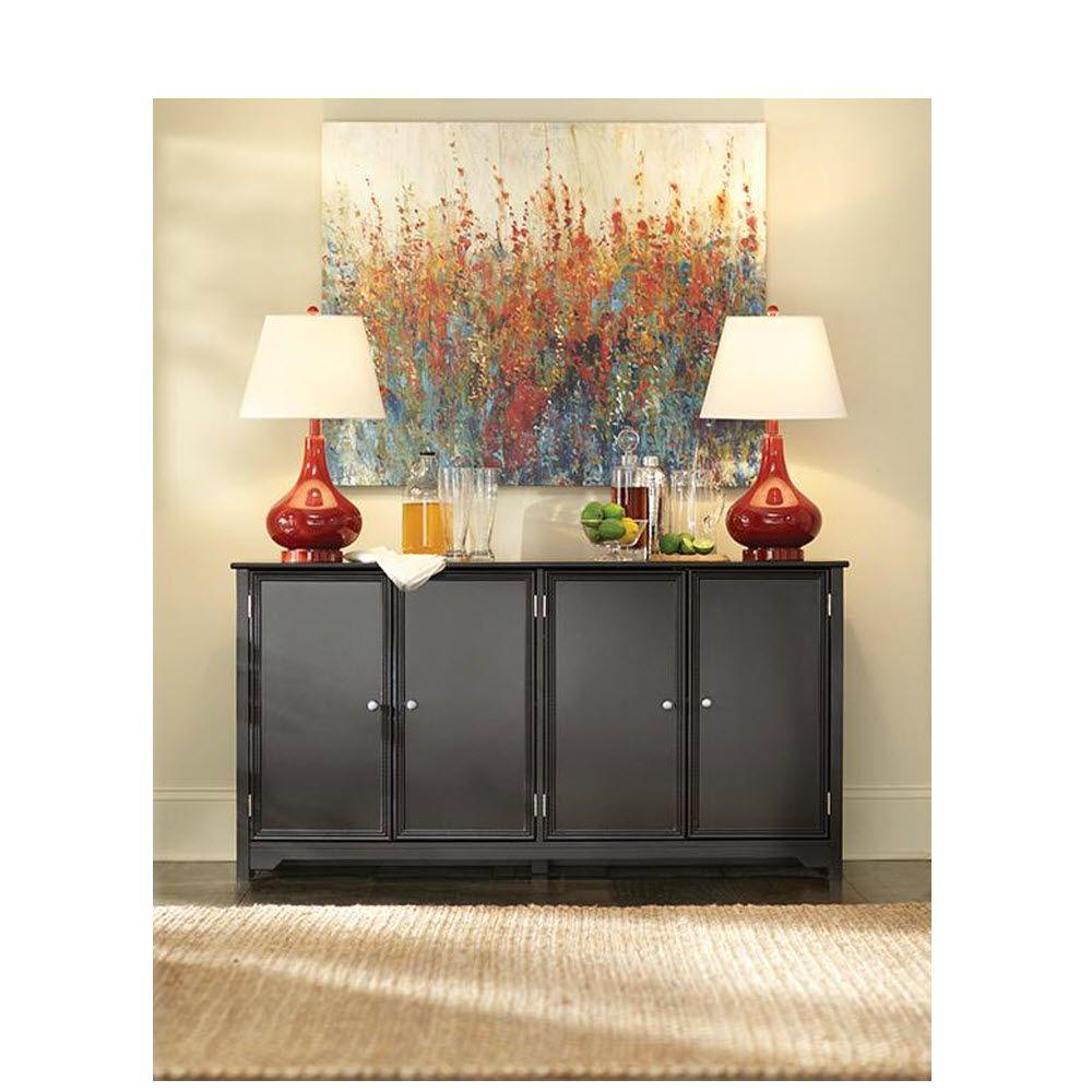 Home Decorators Collection Oxford Black Storage Console Table  sc 1 st  The Home Depot & Home Decorators Collection Oxford Black Storage Console Table ...