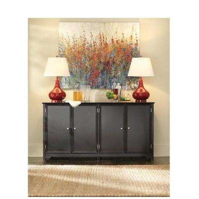Oxford Black Storage Console Table