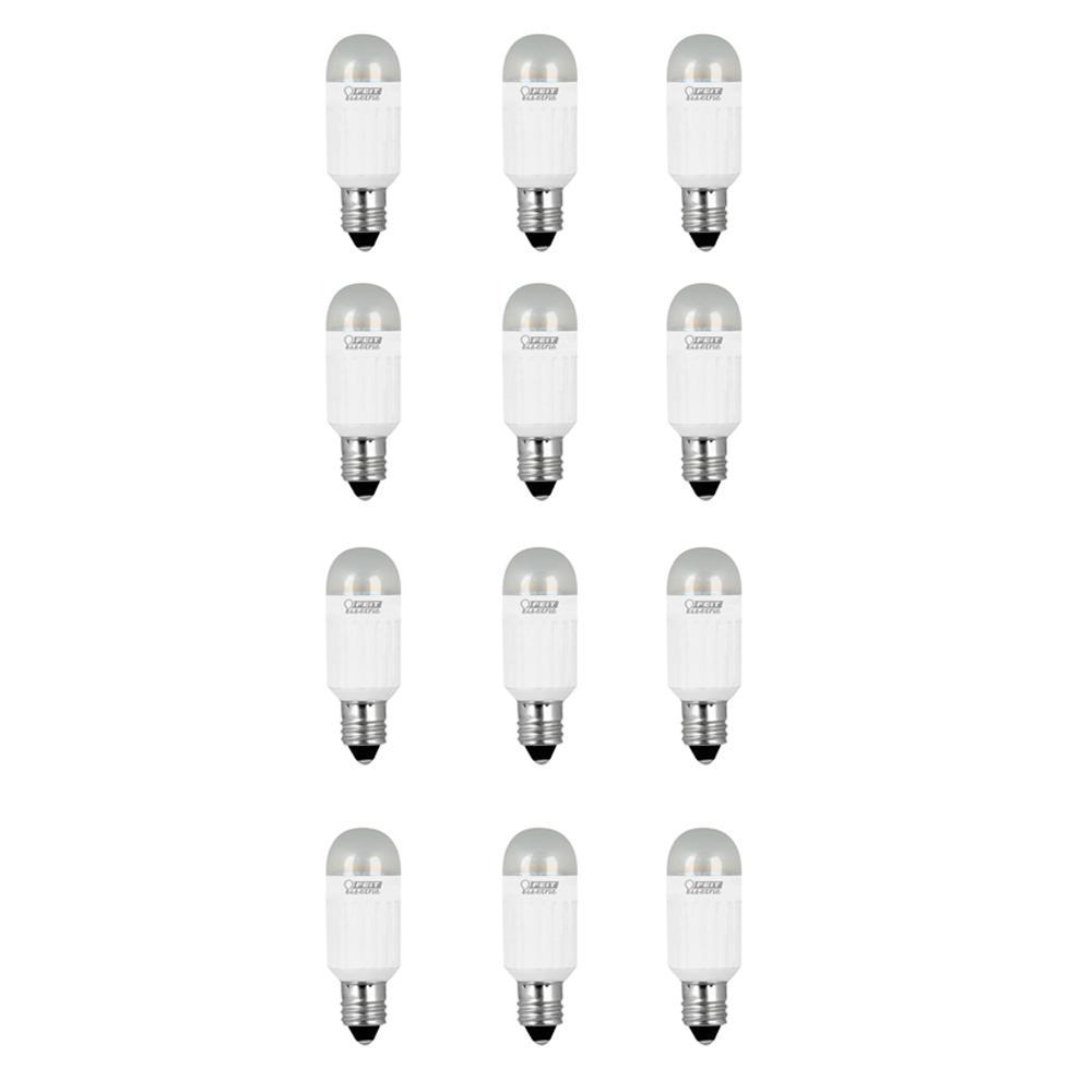Mini Candelabra Base Led Bulb: Feit Electric 20W Equivalent Warm White (3000K) T4 Mini