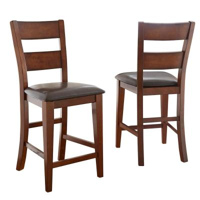 Zappa 24 in. Brown Counter Chair (Set of 2)