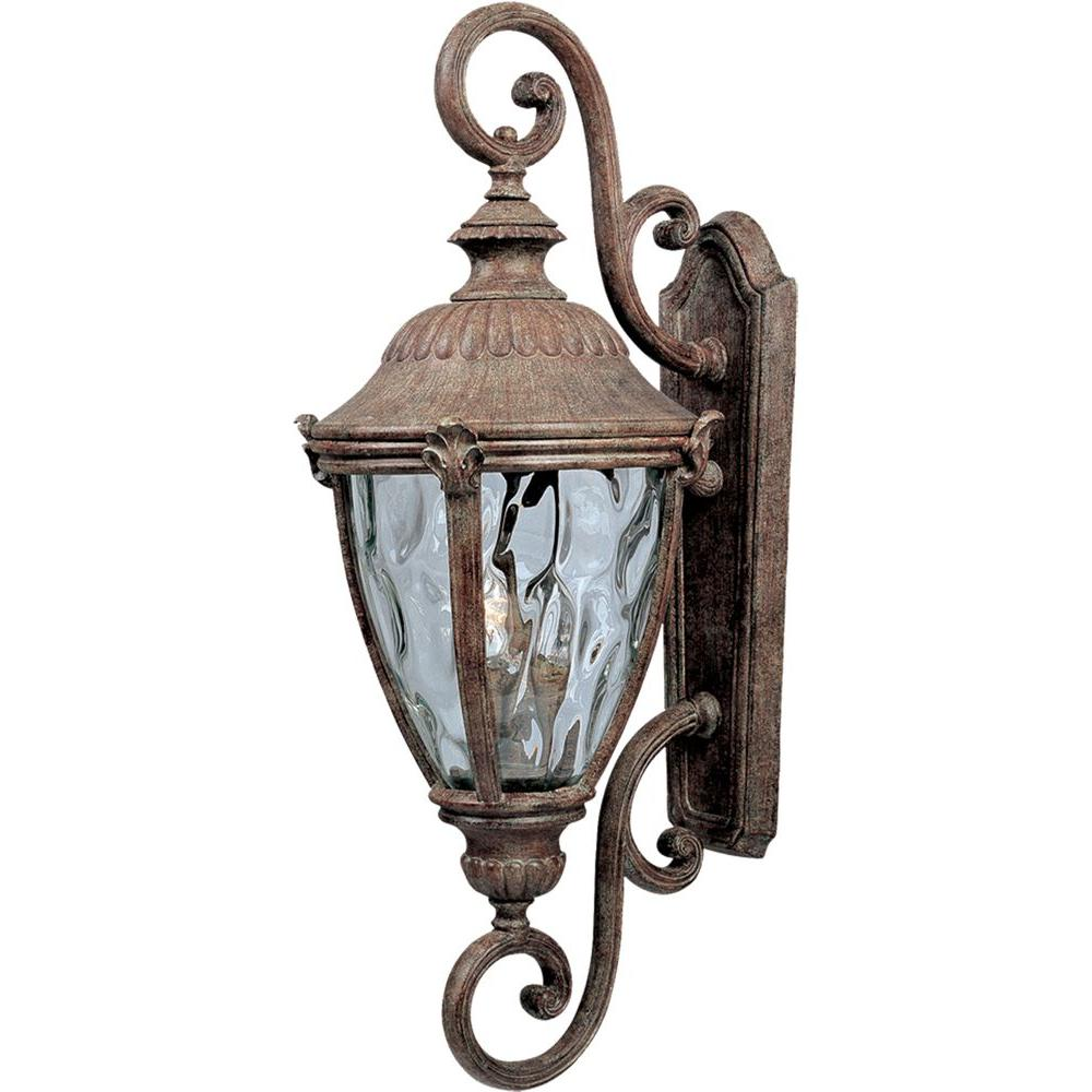 Morrow Bay DC 3-Light Earth Tone Outdoor Wall Mount