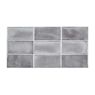 Gris Rustico 3 in. x 6 in. Glossy Textured Ceramic Wall Tile (5.38 sq. ft. / Case)