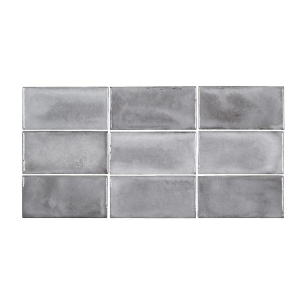 Jeffrey Court Gris Rustico 3 In X 6 In Glossy Textured Ceramic Wall Tile 5 38 Sq Ft Case 96640 The Home Depot