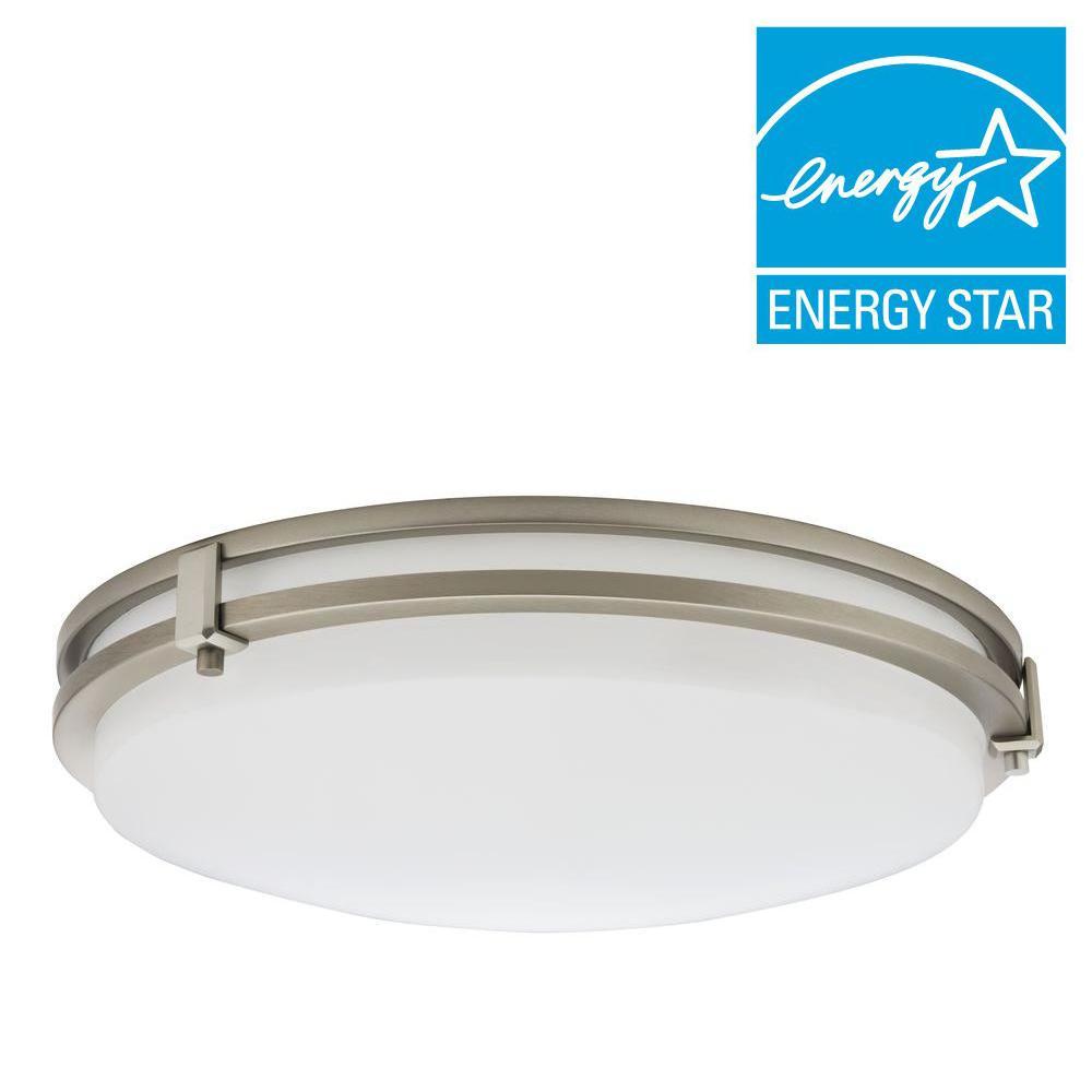 Saturn 16-Watt Brushed Nickel Integrated LED Flushmount