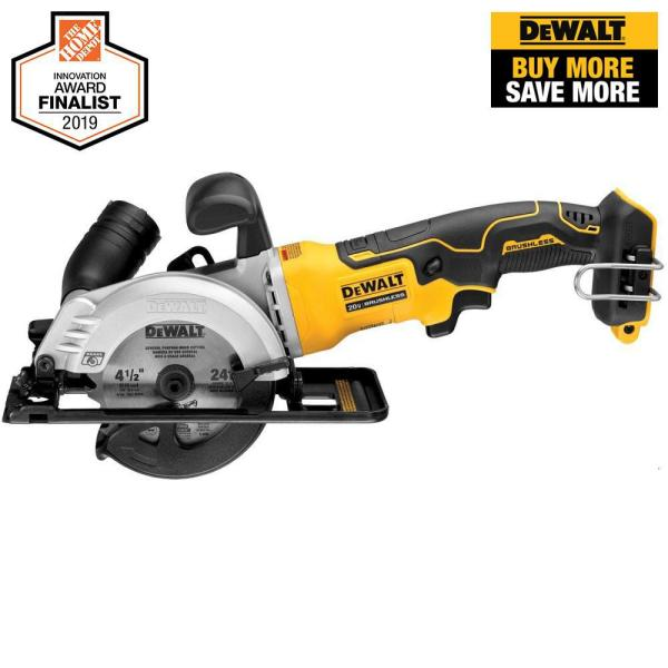 ATOMIC 20-Volt MAX Cordless Brushless  4-1/2 in. Circular Saw (Tool-Only)