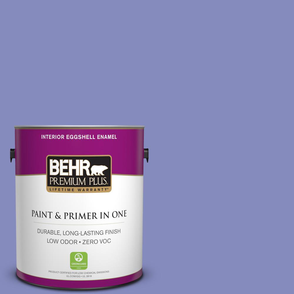 BEHR Premium Plus 1-gal. #620B-5 Pristine Petal Zero VOC Eggshell Enamel Interior Paint