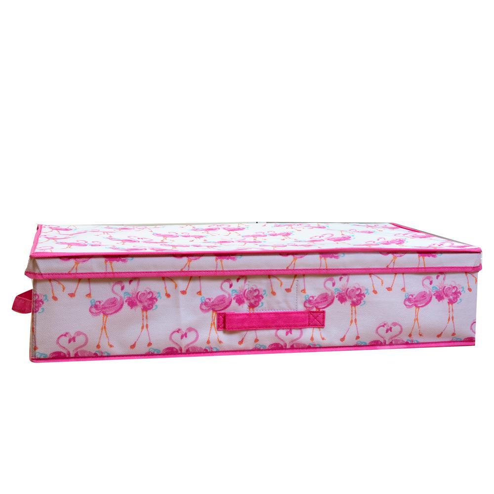 Under the Bed Storage Box in Pretty Flamingo