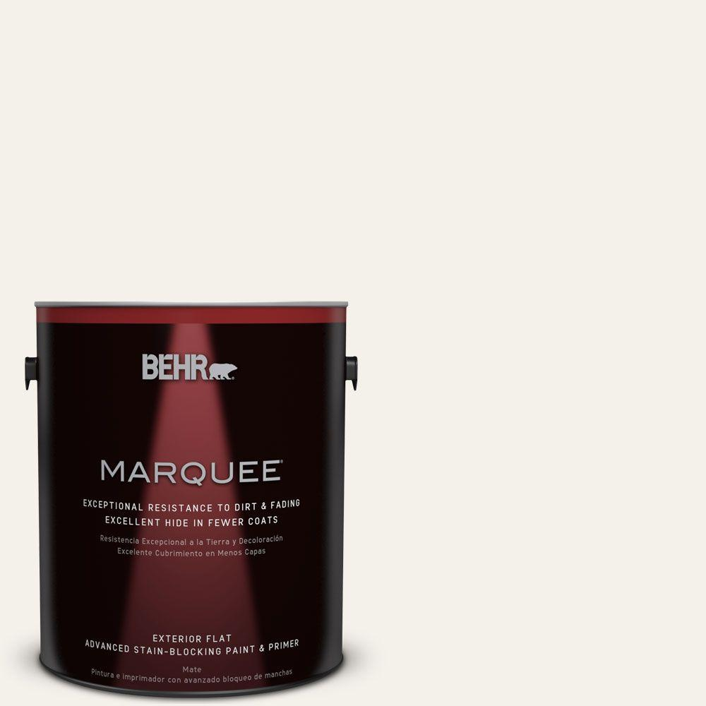 BEHR MARQUEE 1-gal. #PPU18-7 Falling Snow Flat Exterior Paint