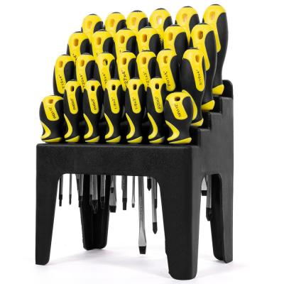 Multi-Purpose Screwdriver Set with Magnetic Tips and Rack Stand (26-Piece)