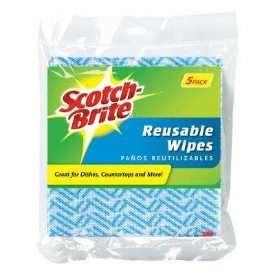 Blue Reusable Wipes (5-Pack)