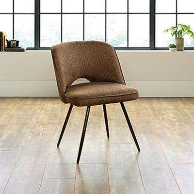 Harvey Park Brown Linen Becket Accent Chair